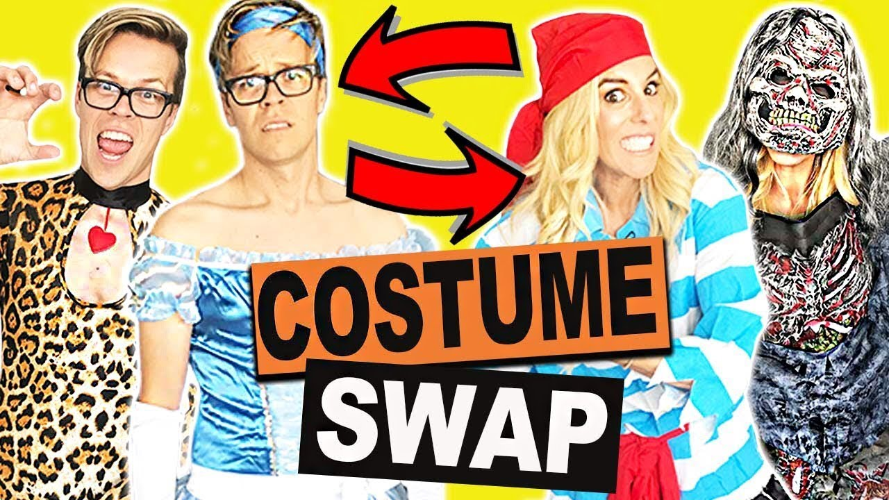 Clothes Swap Challenge! (Halloween Edition) Hilarious Halloween Costumes