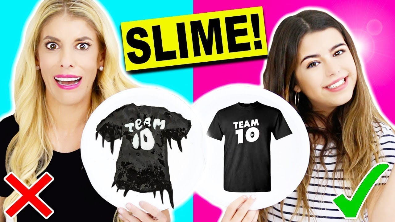 DIY Slime Art! Learn how to make Liza Koshy, Jake Paul, & Team 10 merch!