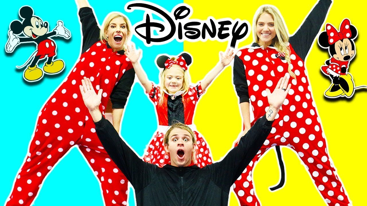 Disney Onesie Gymnastics with Cole and Sav!