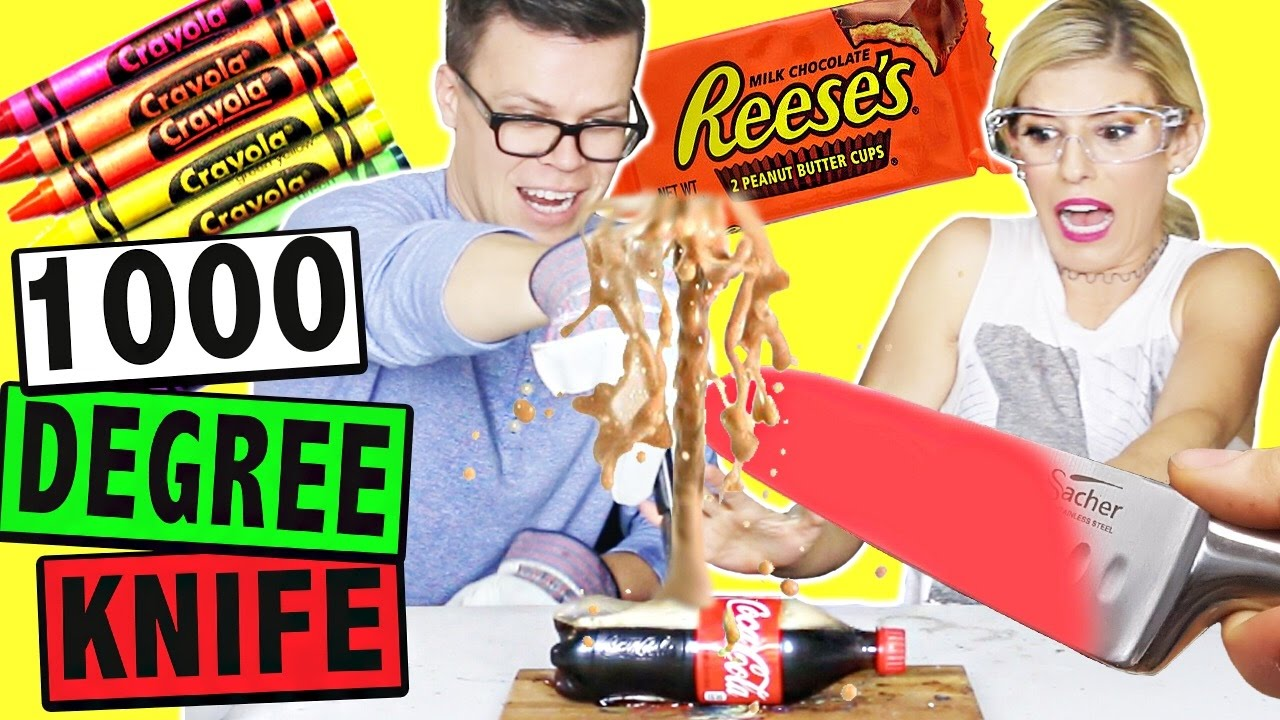 EXPERIMENT: CUTTING THINGS OPEN WITH A 1000 DEGREE KNIFE!! Pt. 2
