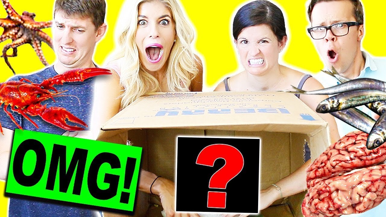 EXTREME WHAT'S IN THE BOX CHALLENGE!! (WE ACTUALLY ATE THEM!)