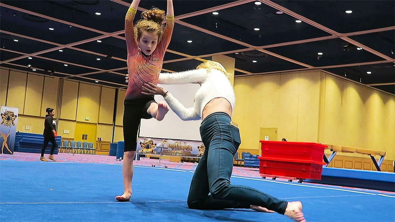 GYMNASTICS LESSON WITH THE BRATAYLEY FAMILY (in real life)