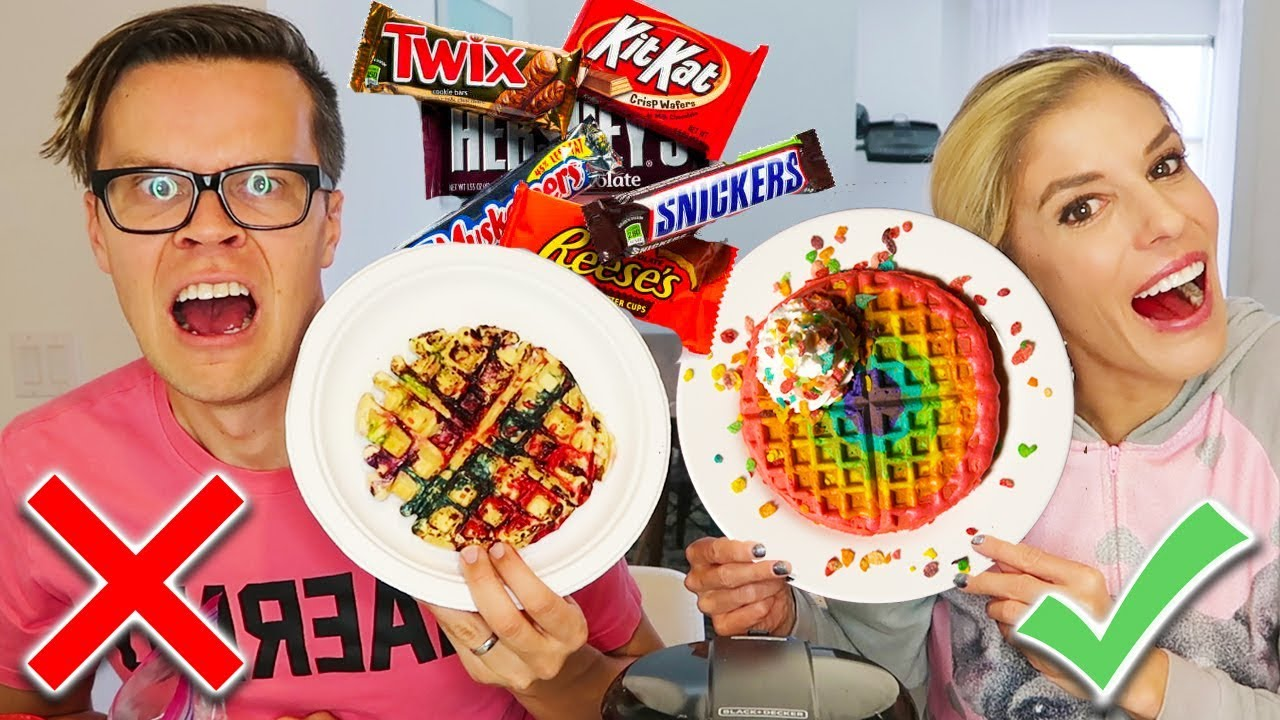 Making DIY Waffles Out Of Candy - (Ultimate Gummy, Sour Candy Challenge)