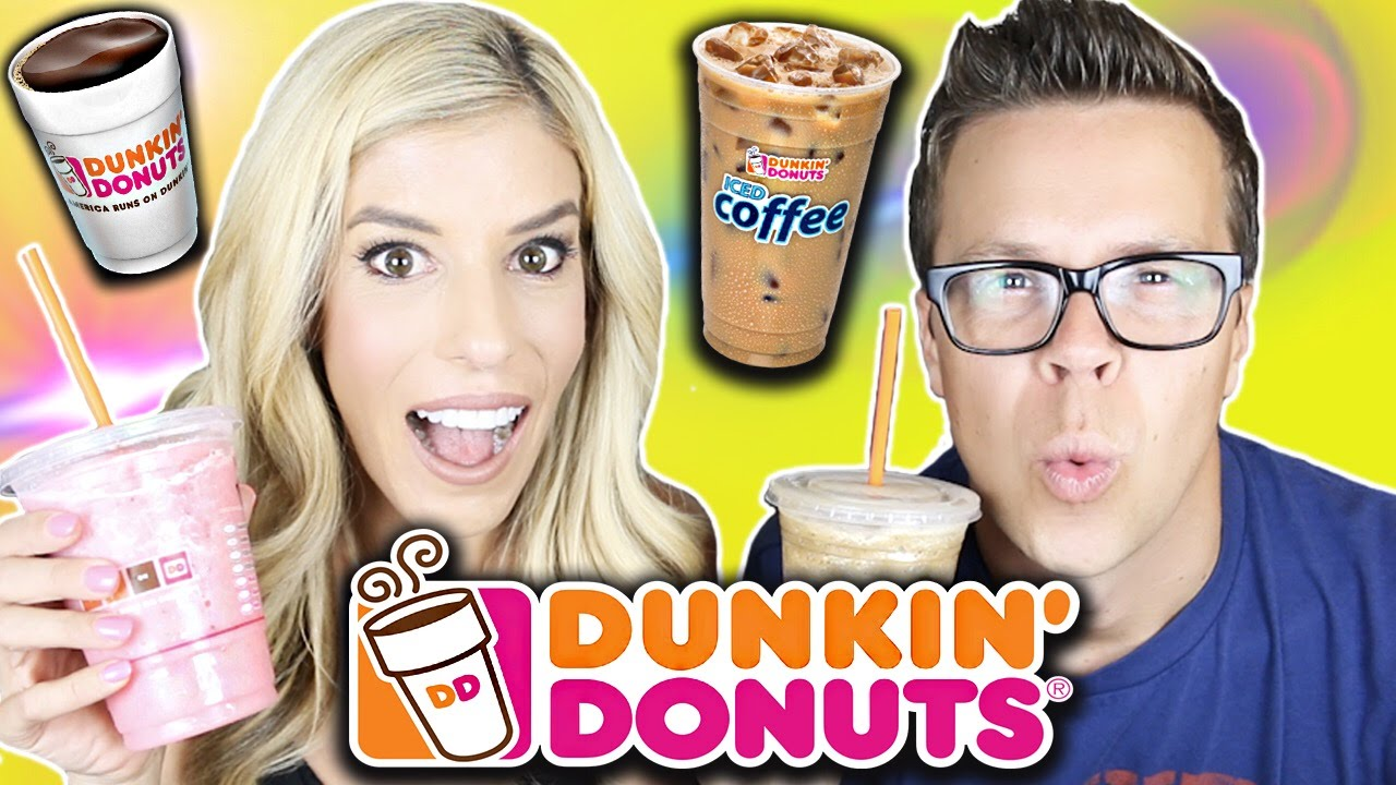 TRYING DUNKIN DONUTS ICED COFFEE DRINKS