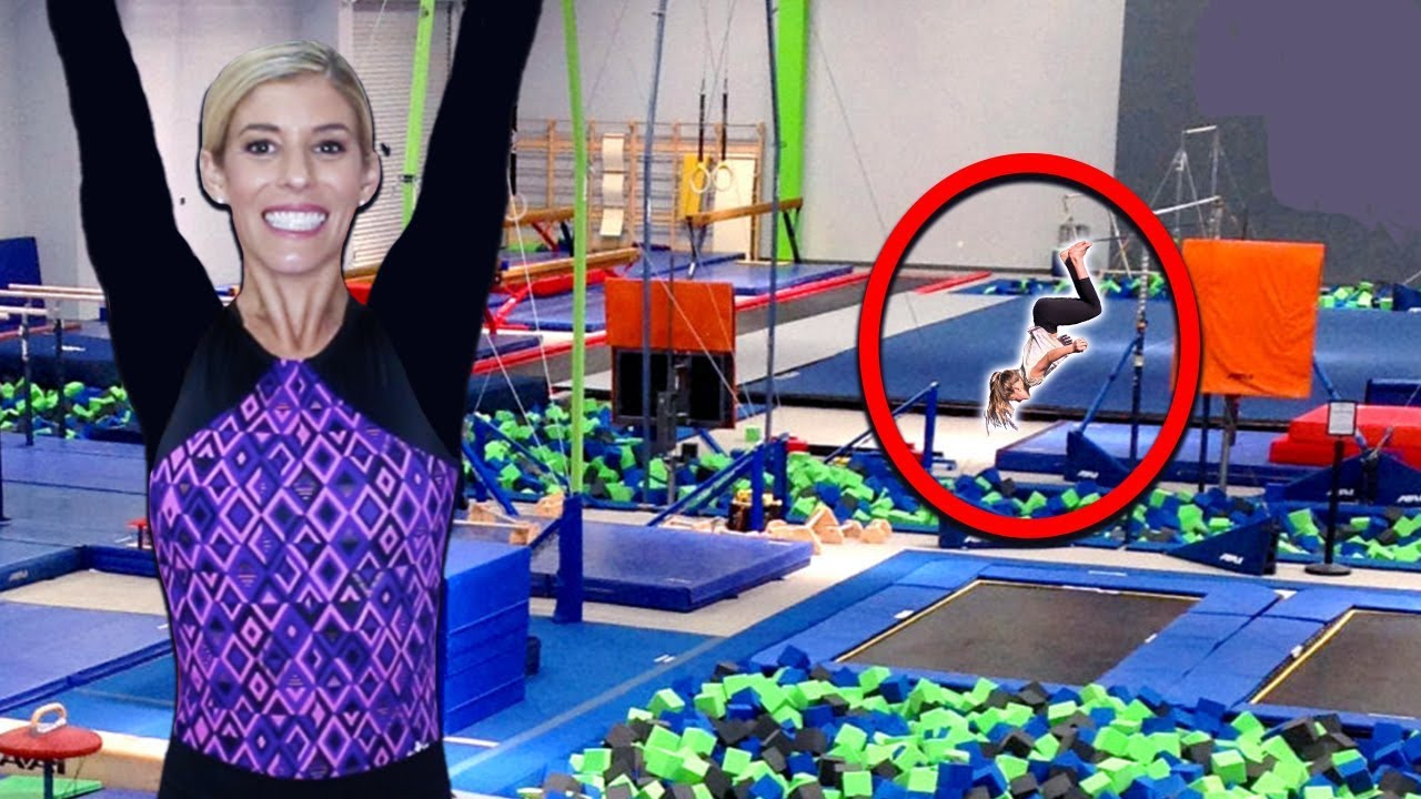 Trying Gymnastics Conditioning with REAL Gymnasts! Learn how to train like a competitive gymnast