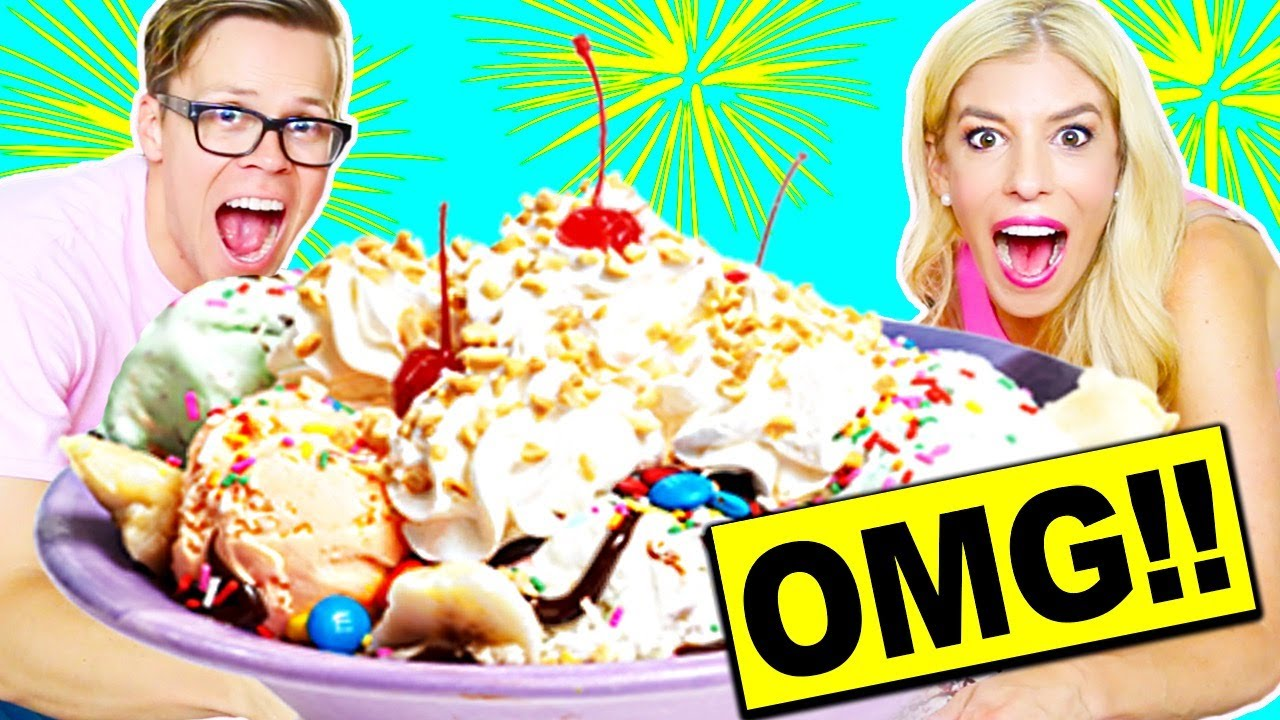 WORLD'S LARGEST ICE CREAM SUNDAE!! 100,000+ CALORIES!