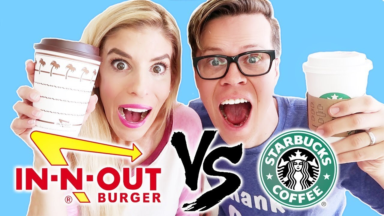In-N-Out vs. Starbucks (Trying the New Hot Chocolate Challenge)