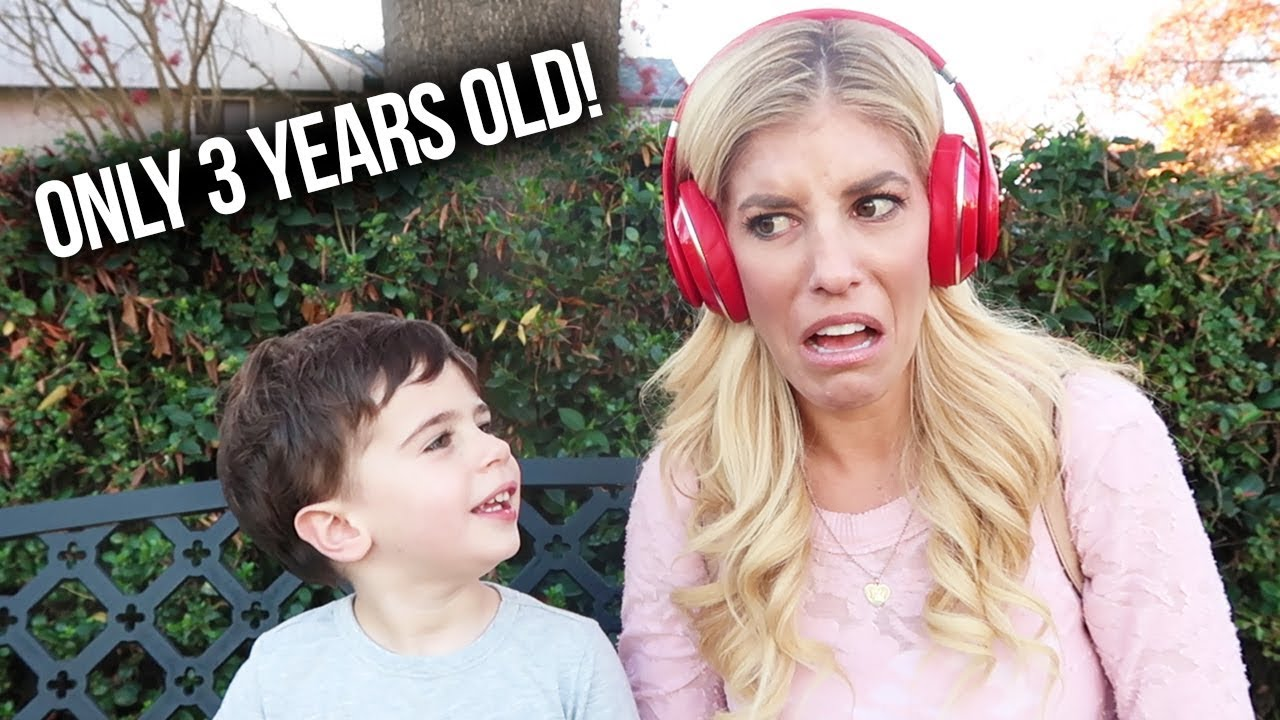 REBECCA TRIES THE WHISPER CHALLENGE WITH A 3 YEAR OLD! (Hilarious Reaction) Day 32