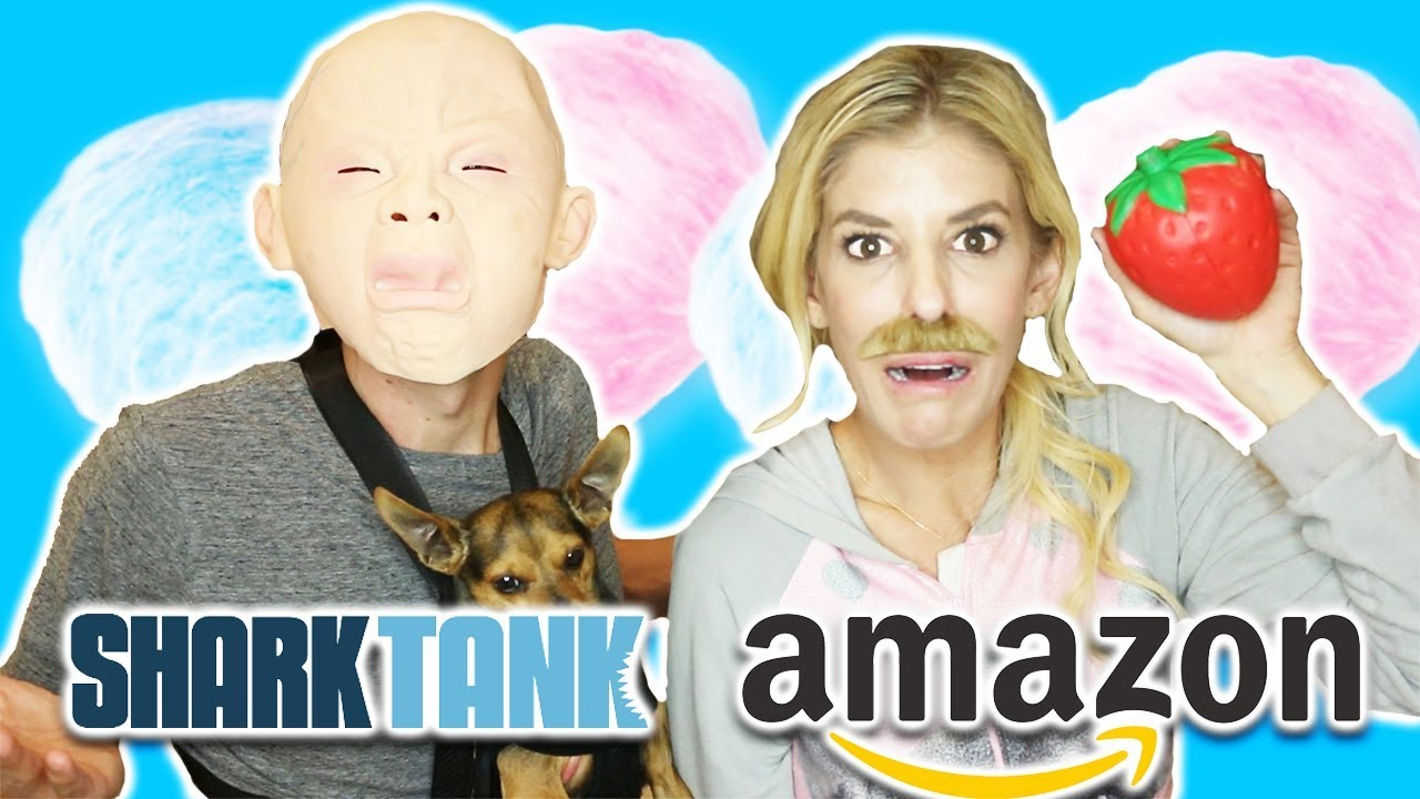 SHARK TANK VS.  AMAZON - Testing Products  (Dog Carrier, mask, squishy)