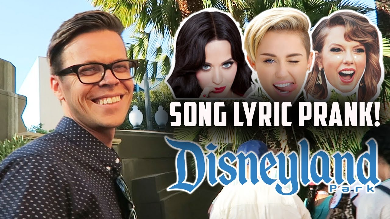 SONG LYRIC PRANK ON PEOPLE IN LINE AT DISNEYLAND! (DAY 201)