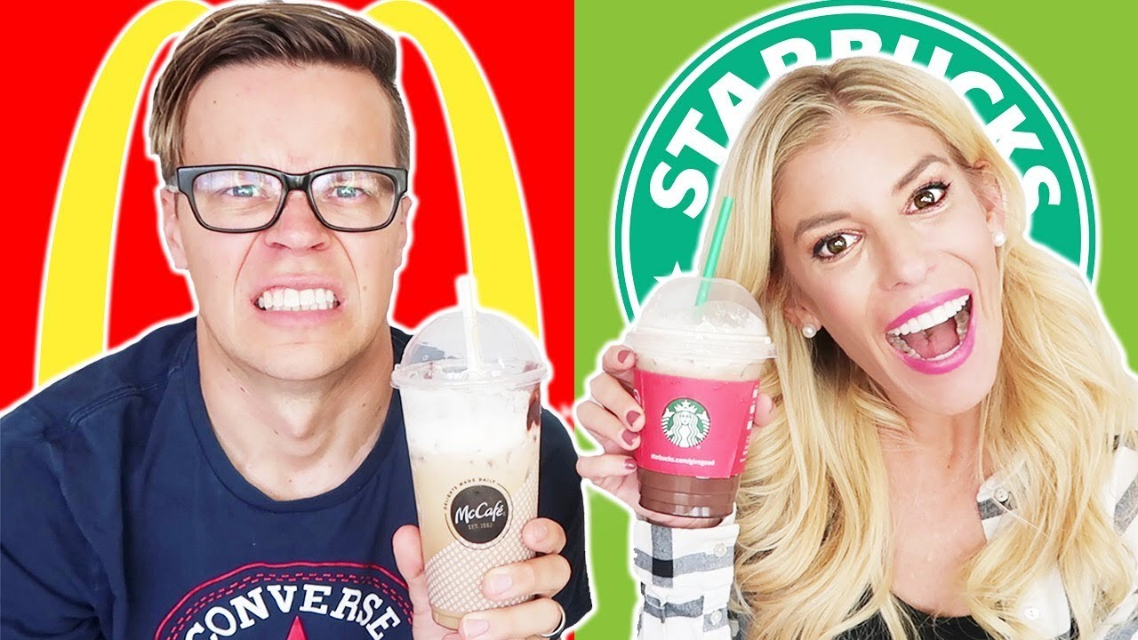 TESTING STARBUCKS VS. MCDONALDS NEW HOLIDAY MENU!