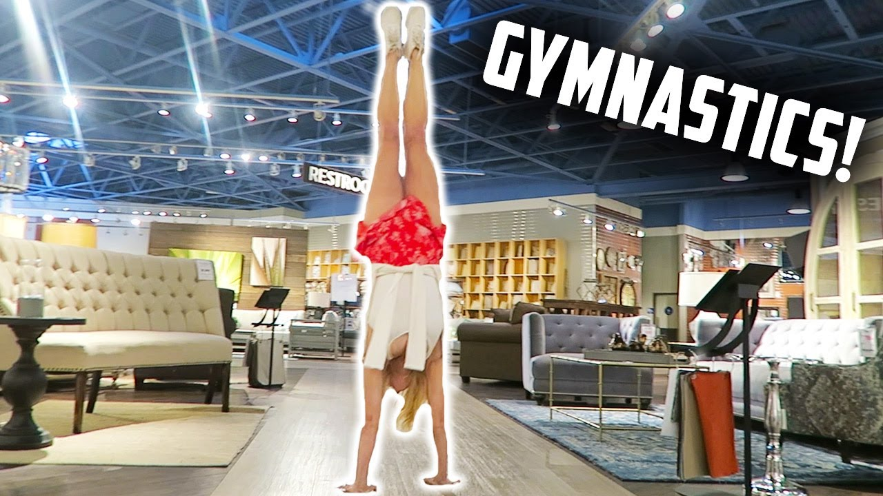 TRYING GYMNASTICS AT A FURNITURE STORE LIVING SPACES (DAY 181)