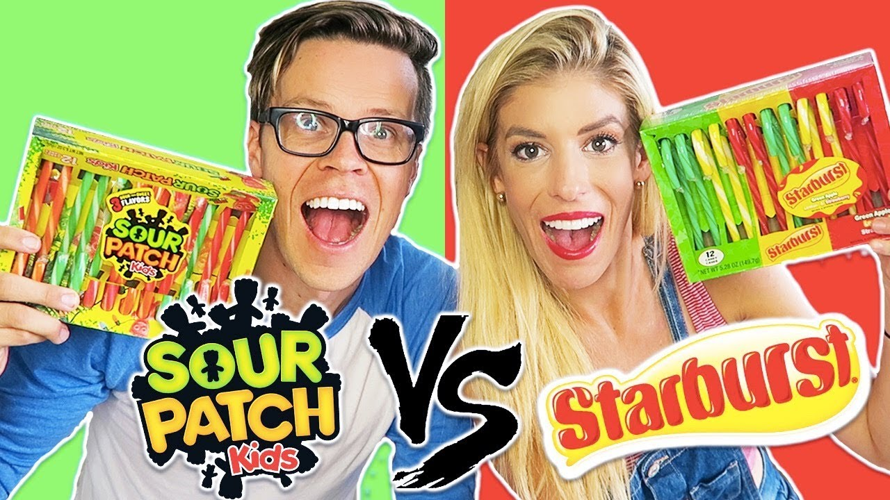 Ultimate Candy Cane Challenge, Sour Patch Vs. Starburst Candy! (Day 340)