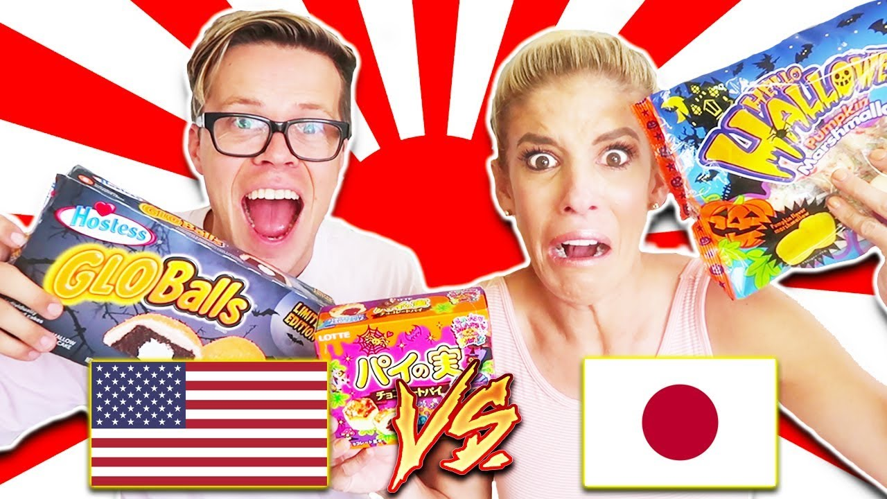 AMERICAN HALLOWEEN CANDY VS. JAPANESE HALLOWEEN CANDY FOOD CHALLENGE! (Day 289