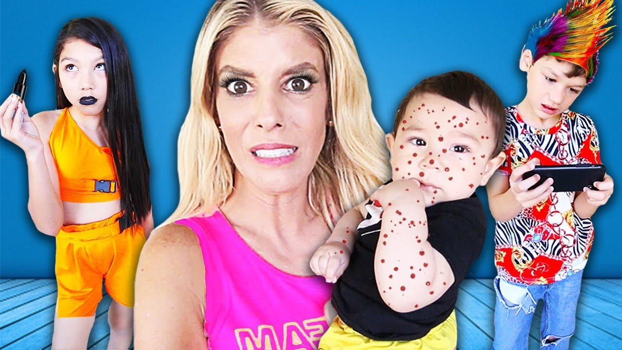 Babysitting SIBLINGS as a Mom for 24 Hours! (Parents secretly SPY w/ hidden camera)  Rebecca Zamolo