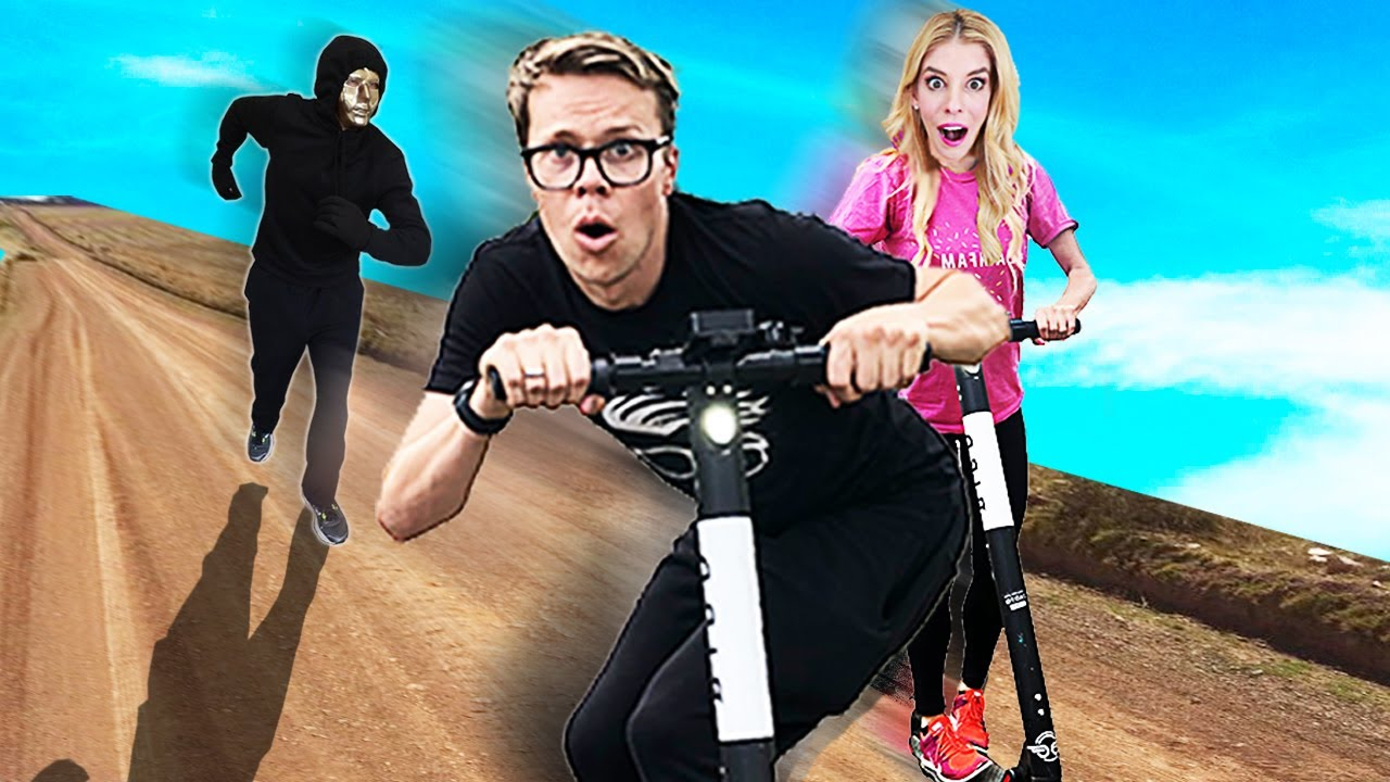 First to Find Buried Treasure Wins $10,000! (Game Master Scooter Chase in Real Life)