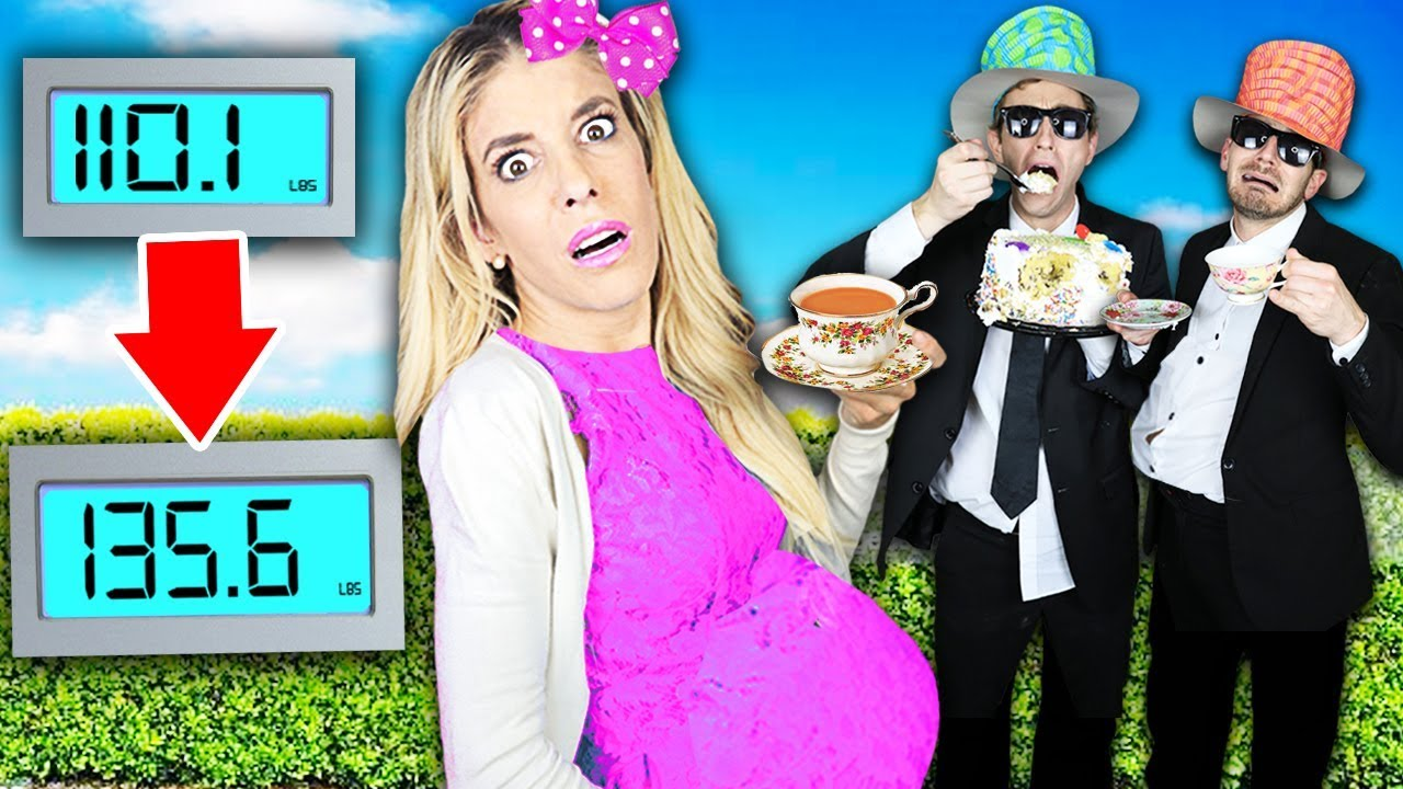 GUESS WHO Can Gain the MOST Weight in 24 HOURS at TEA PARTY! (Worst GM Challenge) | Rebecca Zamolo