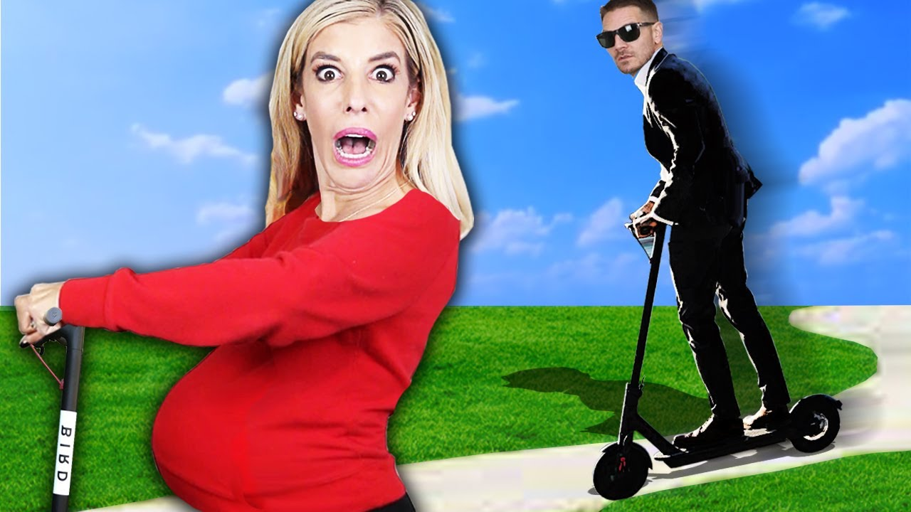 My First Pregnant Scooter Chase for 24 Hours! (Worst Pregnancy Challenge) | Rebecca Zamolo