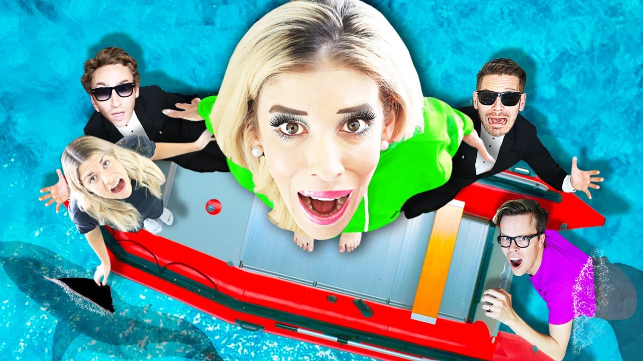 Spending 24 HOURS Straight in the OCEAN! Surviving Hacker Escape Room Trap to Reveal Maddie's Secret