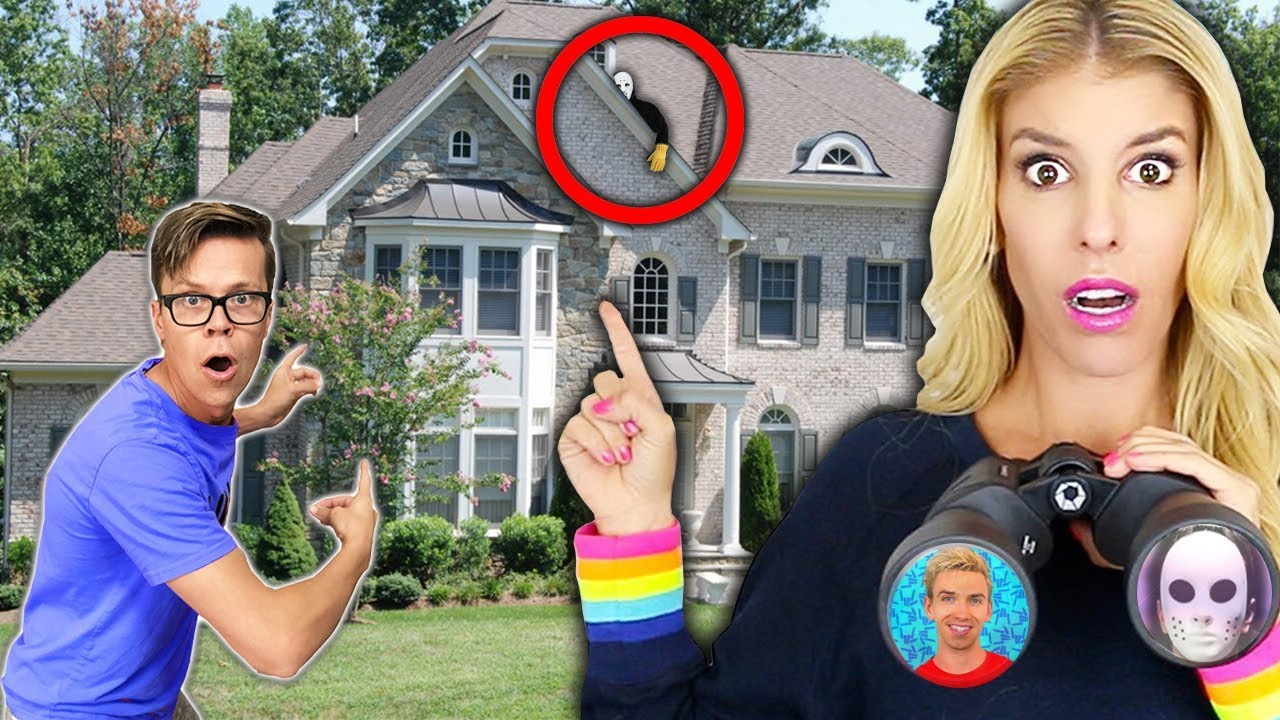 Spying on GAME MASTER STEPHEN SHARER FAM House (Backyard pond reveals new hidden clues & riddles)