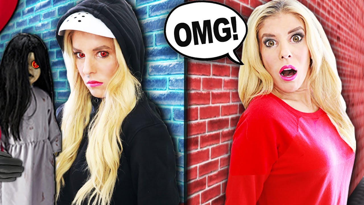 Spying on my IDENTICAL TWIN for 24 HOURS with Creepy Doll! | Rebecca Zamolo