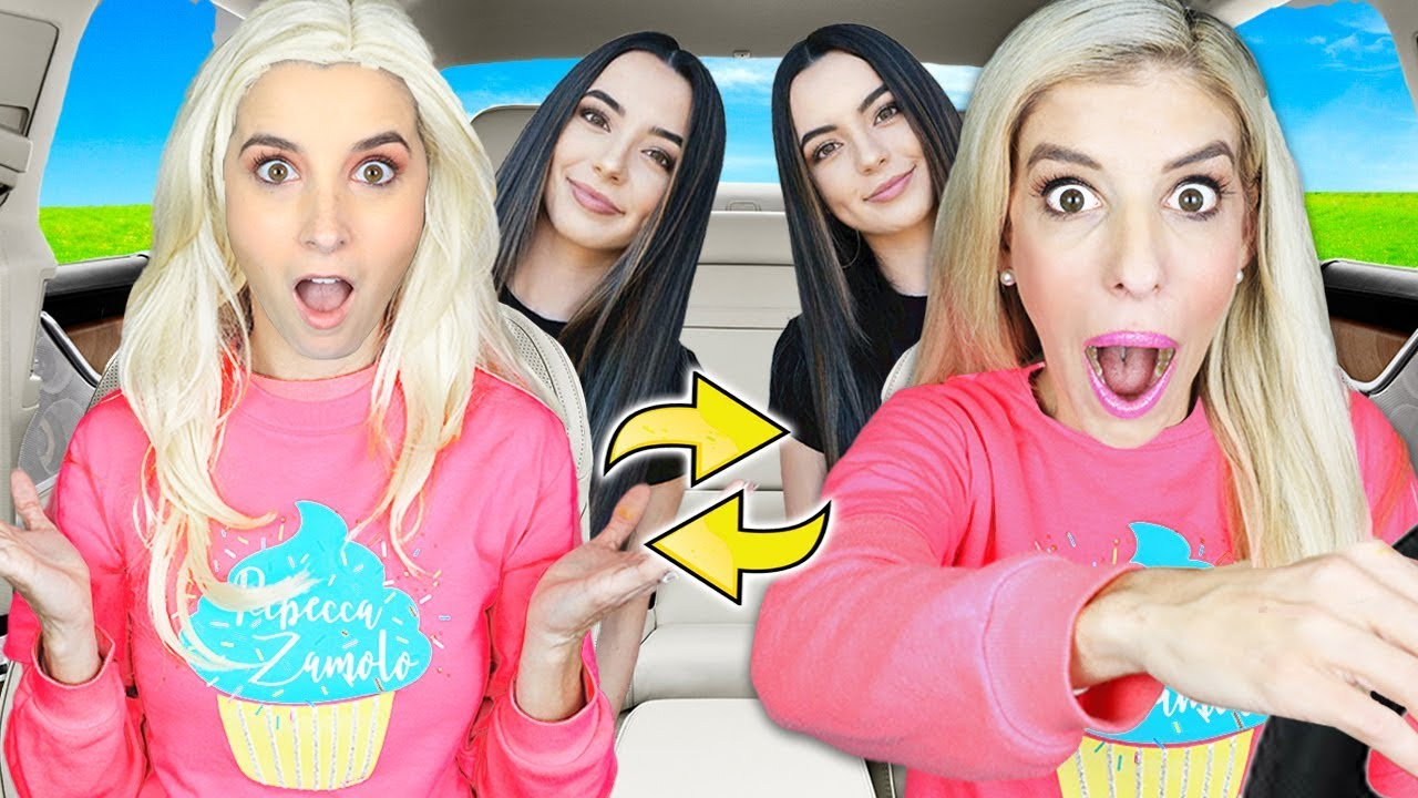Twin Swap Drive Thru PRANK with IDENTICAL TWINS! (Uber Disguise Pranks on YouTubers) Rebecca Zamolo