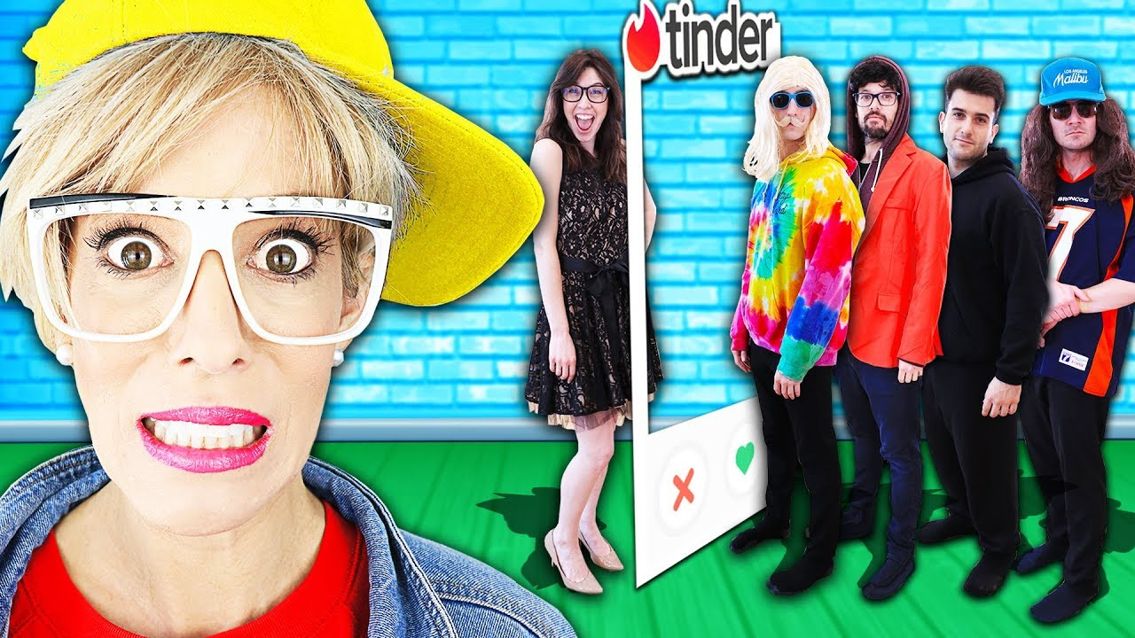 Giant Tinder In Real Life w/ Best Friend Crush to Win First Date! (24 Hour Challenge vs Kiss Hacks)