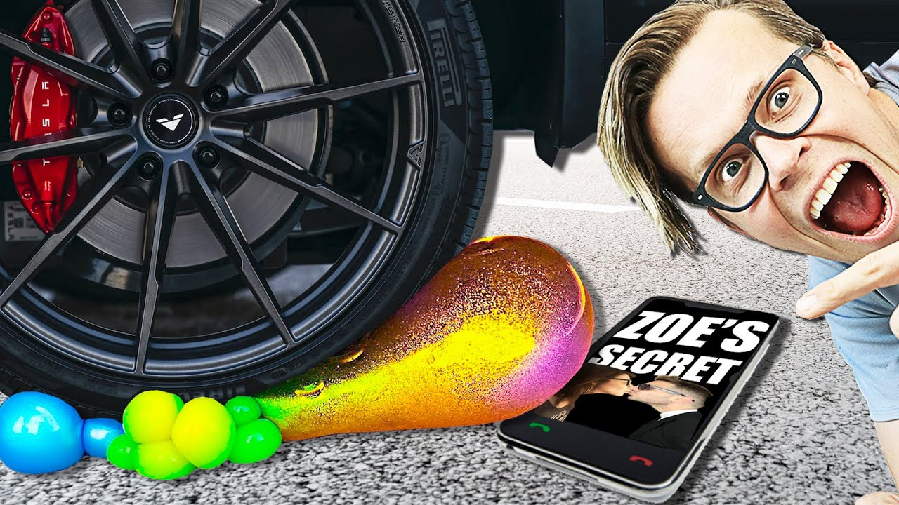 Crushing Crunchy & Soft Things with my Car! Experiment to Destroy iPhone SE of Ex Best Friend Piggy