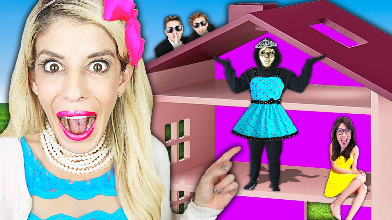 Giant Dollhouse Prank on Hacker for Lie Detector Test Truth! (Worst Diy Wins 24 Hours Challenge)
