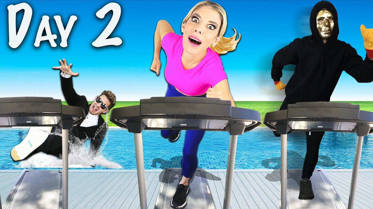 Last To Stop Running Wins Battle Royale! (24 Hours Surprising Rebecca with Best Friend Prank )