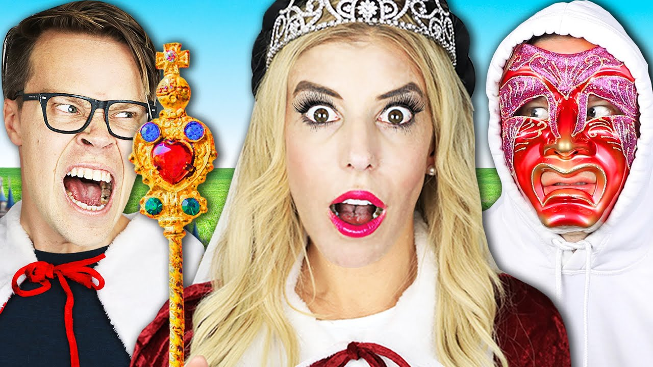 Matt is Jealous! Spending 24 hours as Queen and King in Princess Realm | Rebecca Zamolo