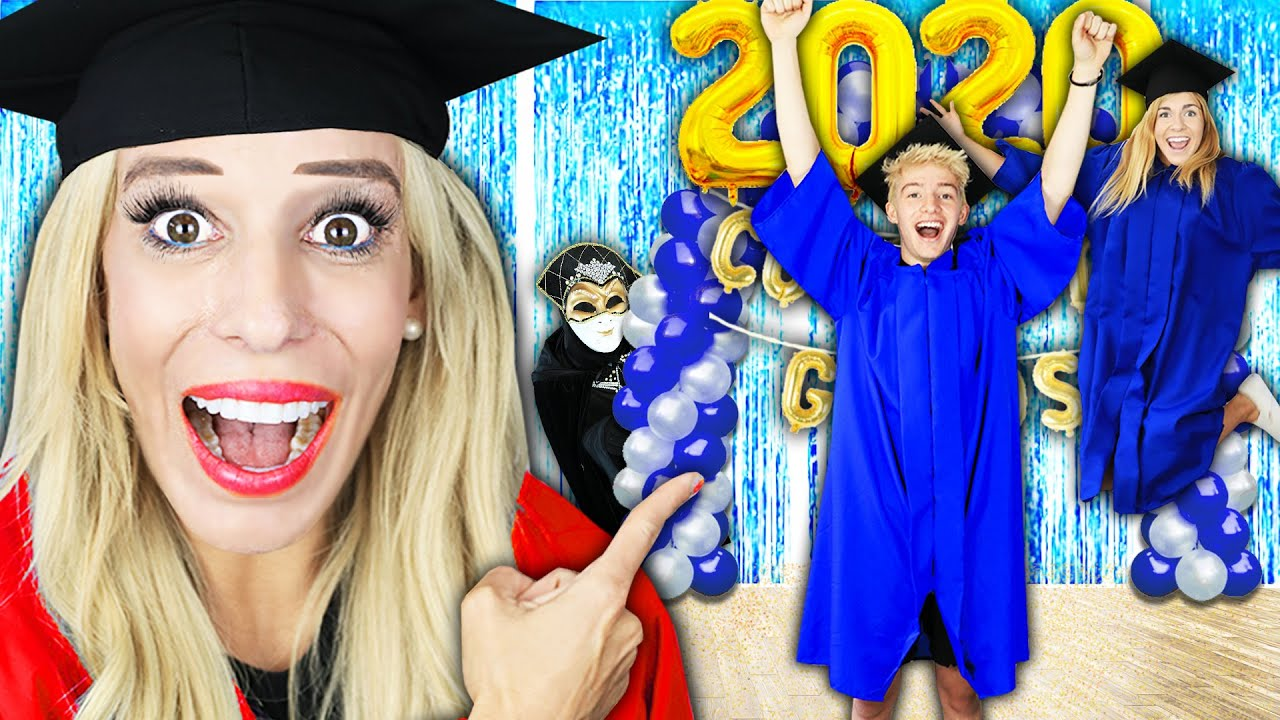 Surprising Connor with a 2020 Youtube Graduation! (Prom with Best Friend Crush) Rebecca Zamolo