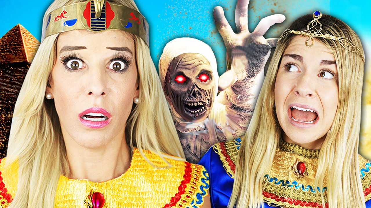 24 Hours as Egyptian Princess Challenge to Win Game Master Switch Up Device! Rebecca Zamolo
