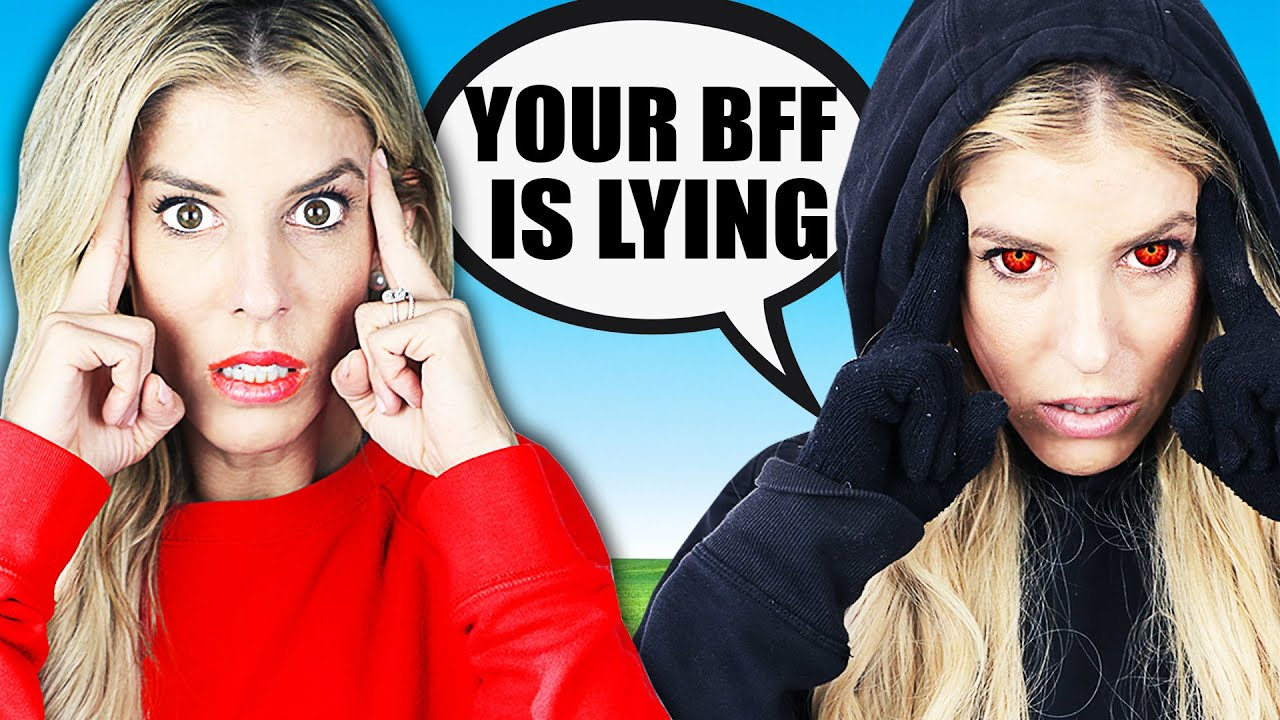 Maddie is A Liar! Twin Telepathy Challenge for Face Reveal of Best Friend on Camera Roll!