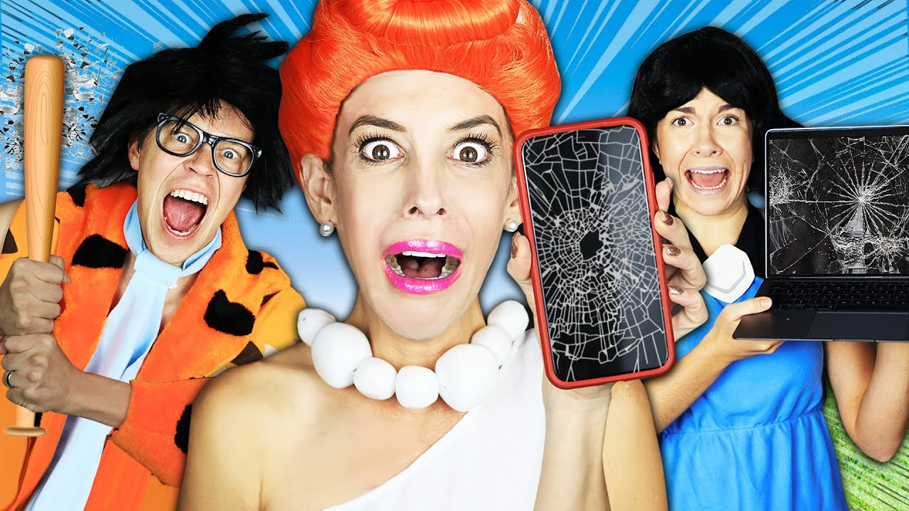 Flintstones in Real Life But 24 Hours No Technology Challenge! Rebecca Zamolo