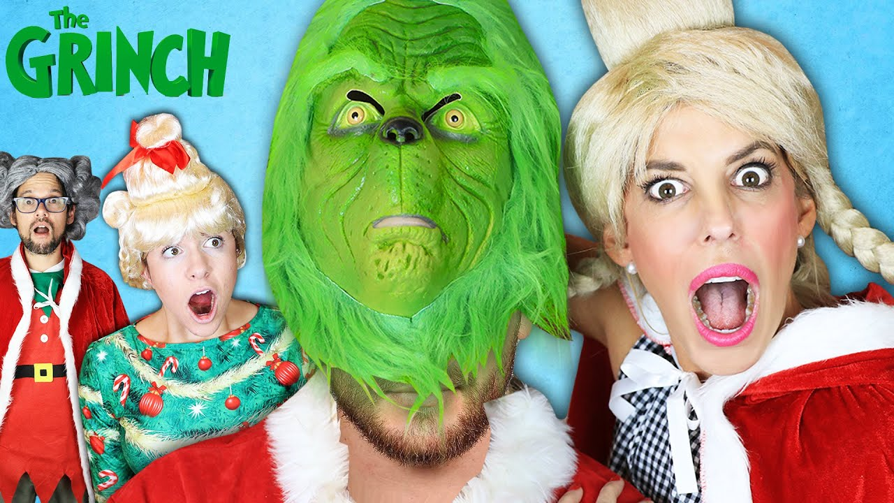 Face Reveal of Grinch Who Stole Christmas! (Surprising My Best Friends) Rebecca Zamolo