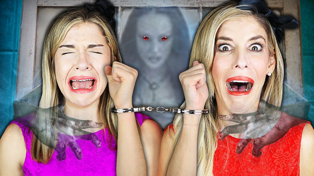 24 Hours HANDCUFFED in Hacker Mini Mansion with Real Ghost! | Rebecca Zamolo